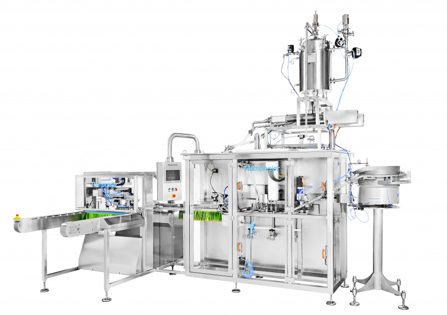 FILLING AND CAPPING MACHINE FOR SPOUTED DOYPACK® STAND UP POUCH